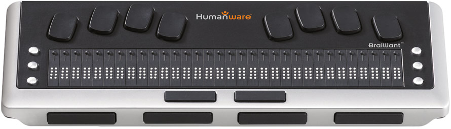 refreshable braille display made by Humanware